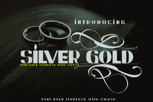 Print on Demand: Silver Gold Sans Serif Font By jehansyah251