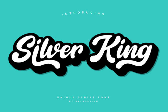 Print on Demand: Silver King Script & Handwritten Font By Grezline Studio