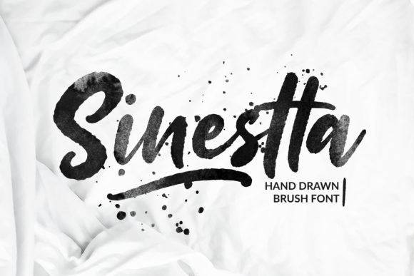 Print on Demand: Sinestta Script & Handwritten Font By Weape Design - Image 1