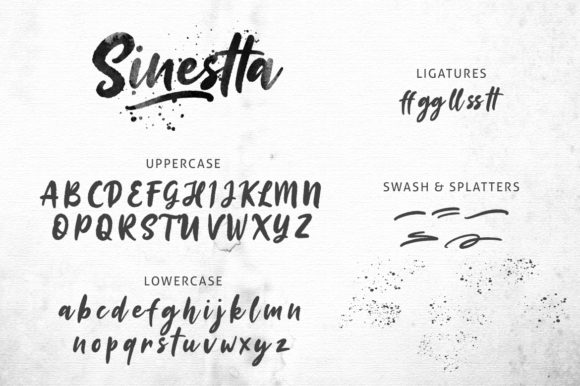 Print on Demand: Sinestta Script & Handwritten Font By Weape Design - Image 7