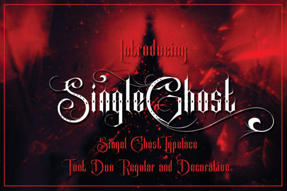 Print on Demand: Single Ghost Display Font By jehansyah251