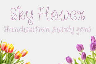Sky Flower Font By Dasagani