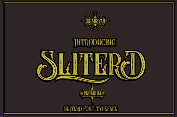Print on Demand: SliterD Display Font By jehansyah251