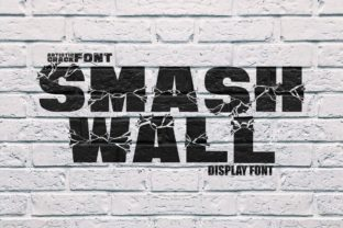 Print on Demand: Smash Wall Display Font By putracetol