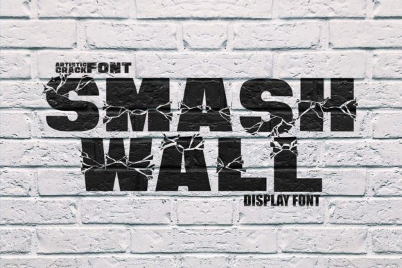 Download Free Smash Wall Font By Putracetol Creative Fabrica for Cricut Explore, Silhouette and other cutting machines.