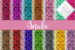 Snake Textures Digital Paper Graphic By fantasycliparts
