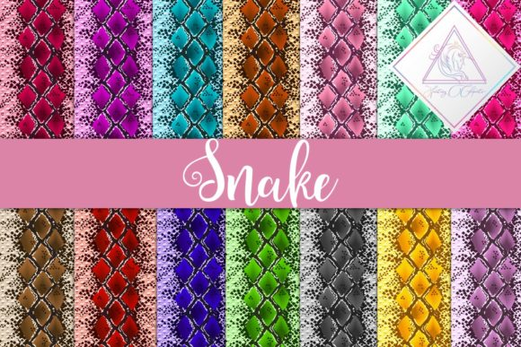 Print on Demand: Snake Textures Digital Paper Graphic Textures By fantasycliparts