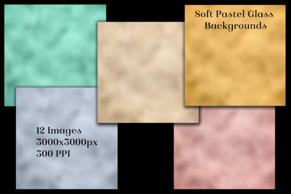Soft Pastel Glass Backgrounds -12 Images Graphic Download
