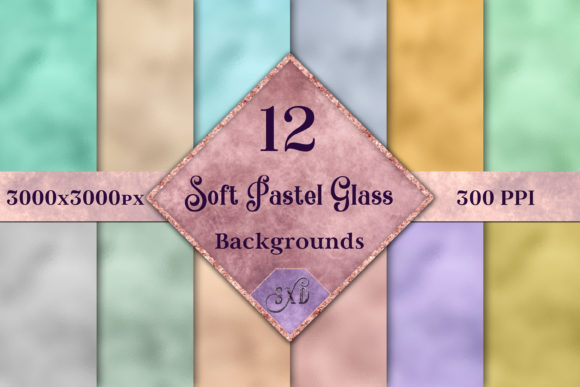 Soft Pastel Glass Backgrounds -12 Images Graphic By SapphireXDesigns