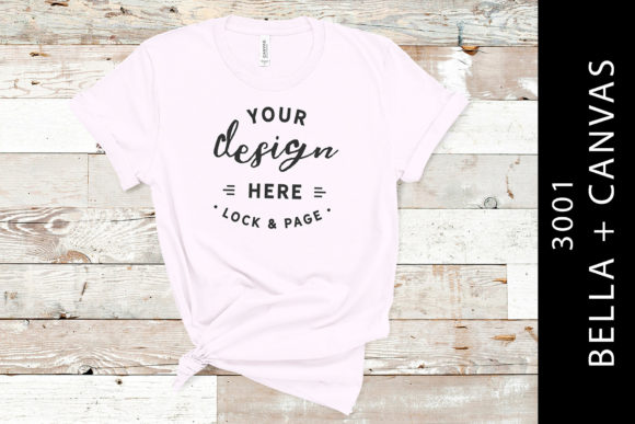 Soft Pink Bella Canvas 3001 T Shirt Mock Graphic Product Mockups By lockandpage