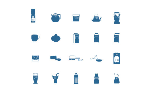 Download Free Solid Drink Unique Icon Graphic By Drondesign Creative Fabrica for Cricut Explore, Silhouette and other cutting machines.
