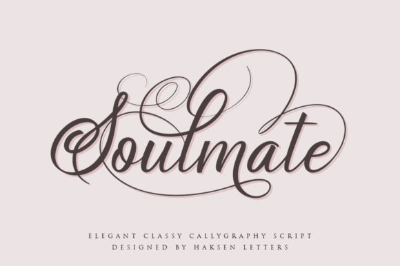 Print on Demand: Soulmate Script & Handwritten Font By Haksen