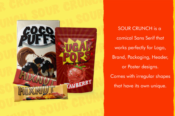 Print on Demand: Sour Crunch Display Font By dmletter31 - Image 2