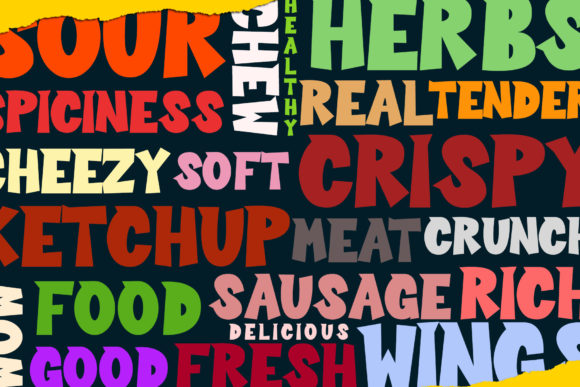 Print on Demand: Sour Crunch Display Font By dmletter31 - Image 3