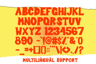 Print on Demand: Sour Crunch Display Font By dmletter31 4