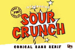 Print on Demand: Sour Crunch Display Font By dmletter31 1