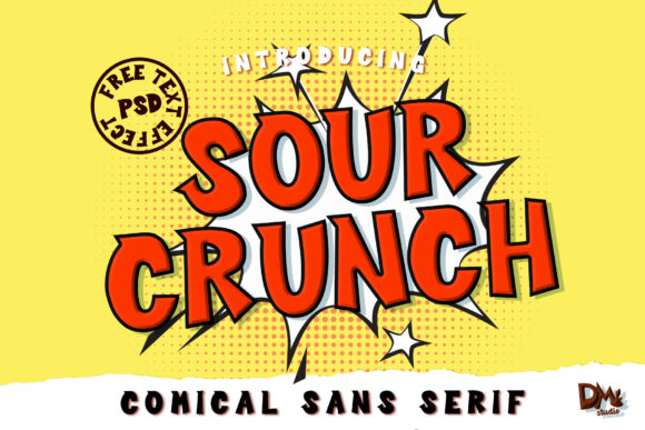 Sour Crunch Display Font By dmletter31