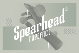 Print on Demand: Spearhead Display Font By Headfonts