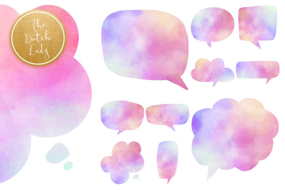 Print on Demand: Speech Bubble Clipart Set Graphic Crafts By daphnepopuliers - Image 5