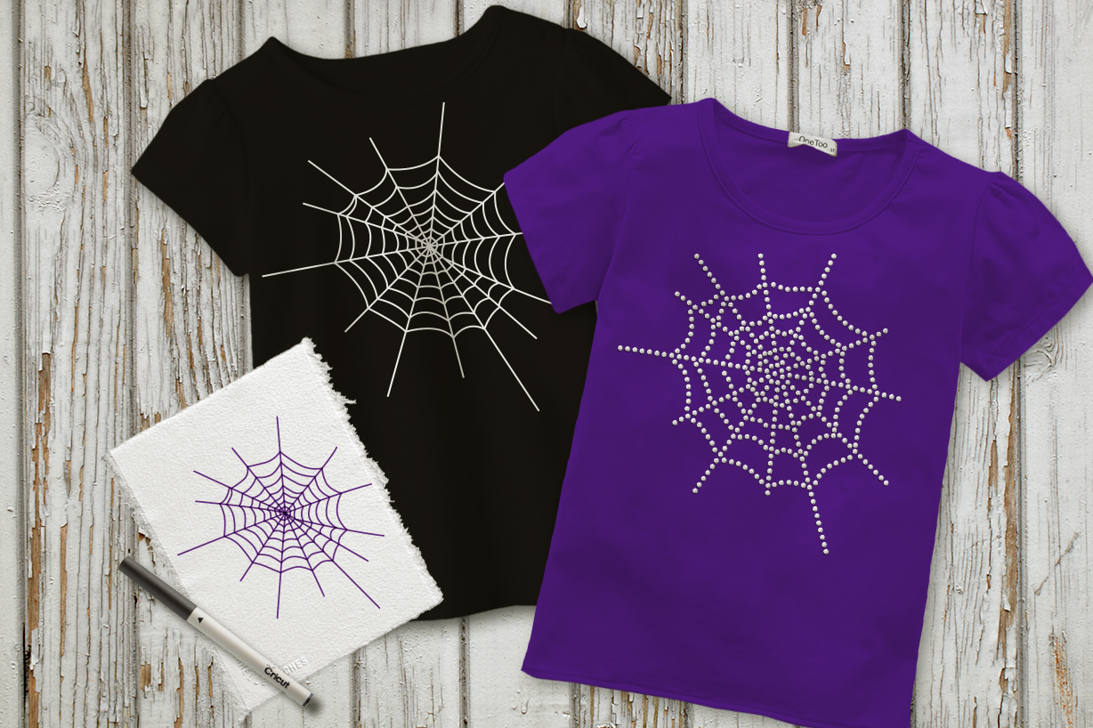Download Free Spiderweb Set W Rhinestone Sketch Graphic By Designedbygeeks for Cricut Explore, Silhouette and other cutting machines.