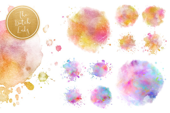Print on Demand: Splattered Circle Clipart Set Graphic Crafts By daphnepopuliers - Image 3