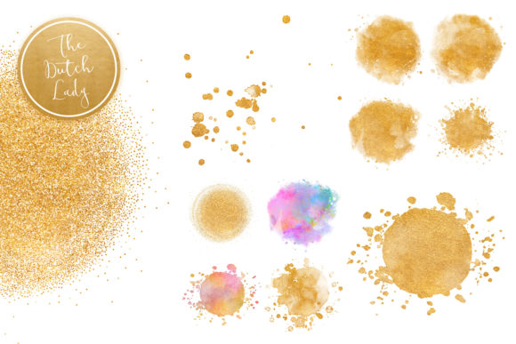 Print on Demand: Splattered Circle Clipart Set Graphic Crafts By daphnepopuliers - Image 4