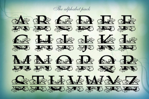 Split Monogram Alphabet - 01 Graphic By Gleenart Graphic Design Image 2