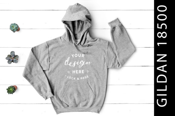 Sport Grey Gildan 18500 Hoodie Mockup Graphic Product Mockups By lockandpage