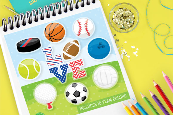 Print on Demand: Sports Balls Graphic Illustrations By Prettygrafik