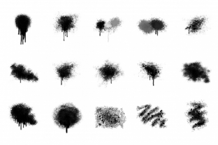 Spray Paint Textures + PNG 15 Elements Graphic By artisssticcc