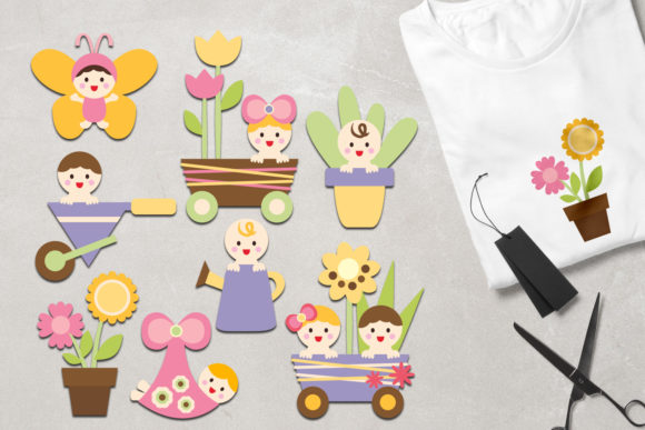 Print on Demand: Spring Baby Graphic Illustrations By Revidevi