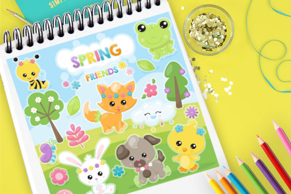 Print on Demand: Spring Friends Graphic Illustrations By Prettygrafik