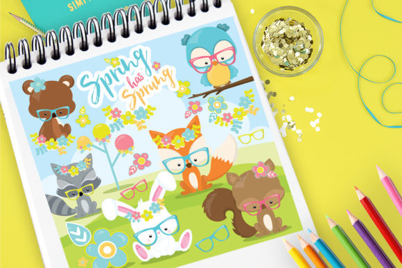 Print on Demand: Spring Has Sprung Animals Graphic Illustrations By Prettygrafik