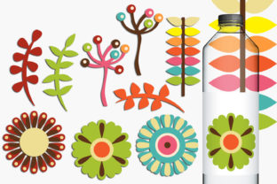 Spring Retro Flowers Graphic By Revidevi
