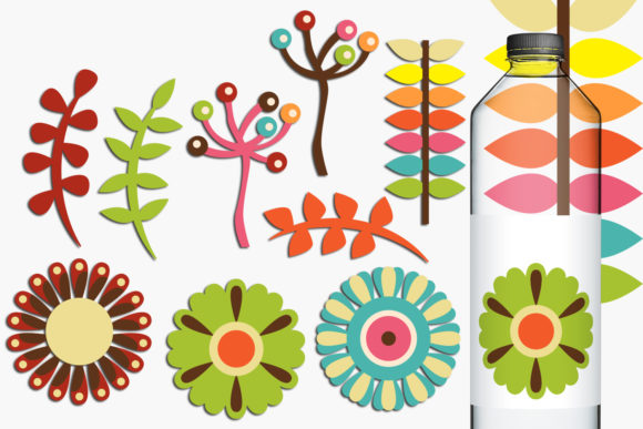 Print on Demand: Spring Retro Flowers Graphic Illustrations By Revidevi - Image 1