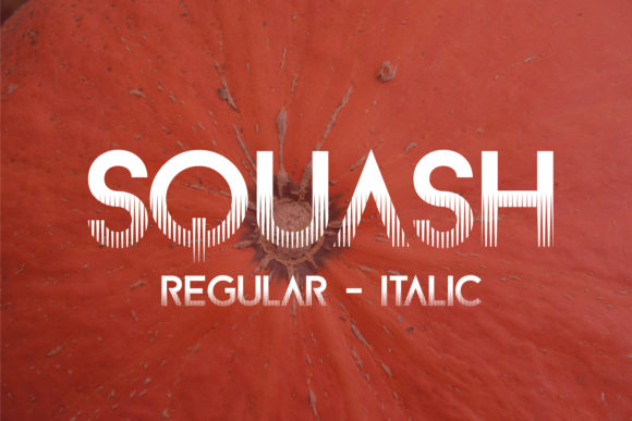 Print on Demand: Squash Effect Sans Serif Font By da_only_aan - Image 1
