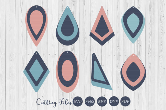 Download Free Stacked Earrings Design Svg Graphic By Hd Art Workshop for Cricut Explore, Silhouette and other cutting machines.