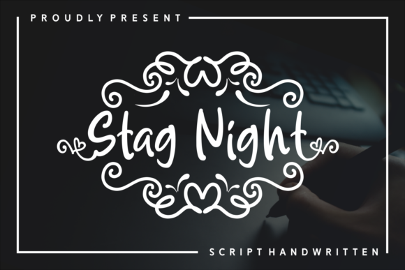 Print on Demand: Stag Night Script & Handwritten Font By Adyfo (7NTypes)