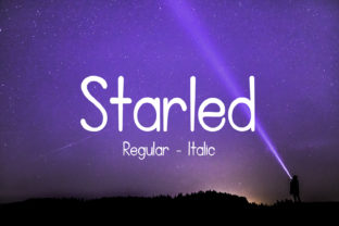 Starled Font By da_only_aan