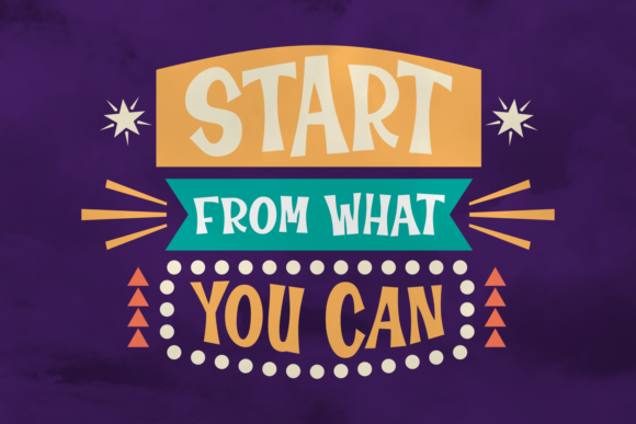 Print on Demand: Start from What You Can Display Font By Rifki (7ntypes) - Image 1