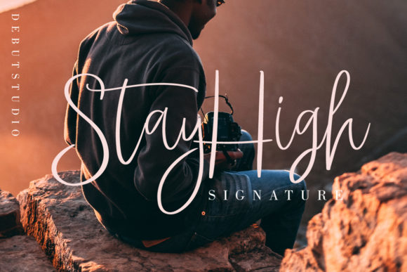 Print on Demand: Stay High Script & Handwritten Font By Debut Studio