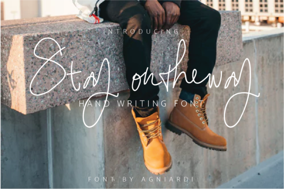 Print on Demand: Stay Ontheway Script & Handwritten Font By agniardii