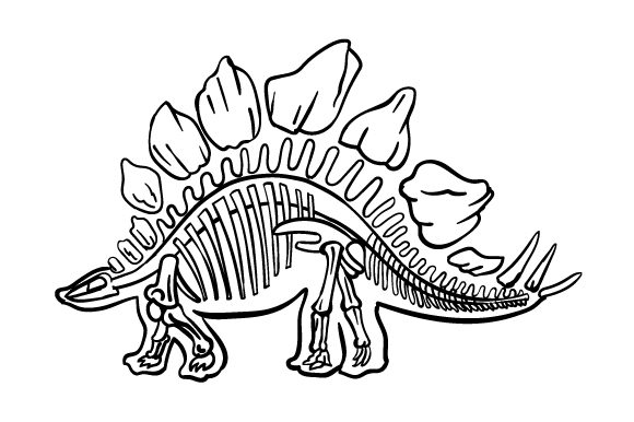Download Free Stegosaurus Outline With Skeleton Svg Cut File By Creative for Cricut Explore, Silhouette and other cutting machines.