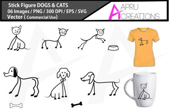 Download Free Stick Figure Dog Svg Stick Figure Cat Graphic By Aparnastjp for Cricut Explore, Silhouette and other cutting machines.