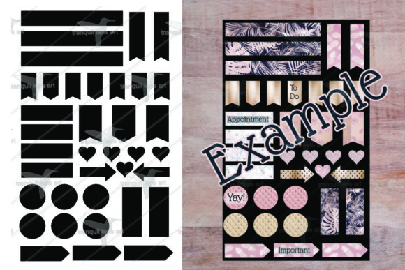 Print on Demand: Sticker Template Graphic Print Templates By Tranquil Lens Art