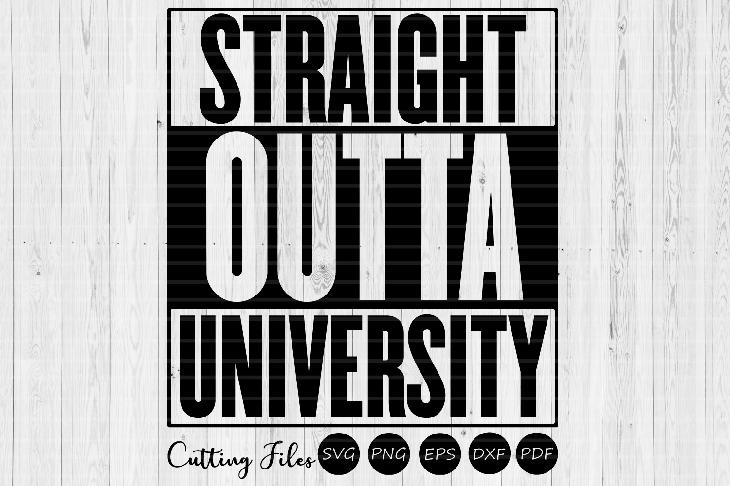 Download Free Straight Outta University Graduation Svg Graphic By Hd Art for Cricut Explore, Silhouette and other cutting machines.