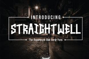 Straightwell Font By sipanji figuree