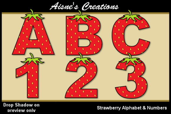 Print on Demand: Strawberry Alphabet & Numbers Graphic Illustrations By Aisne