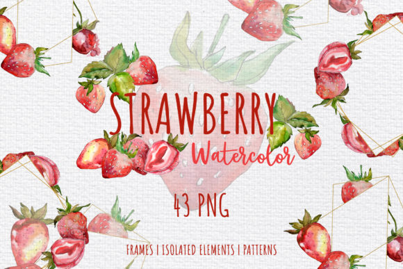 Print on Demand: Strawberry Paradise Watercolor Png Graphic Illustrations By MyStocks