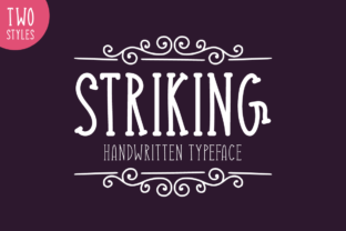 Striking Font By Shattered Notion